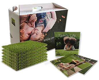 artificial grass sample box