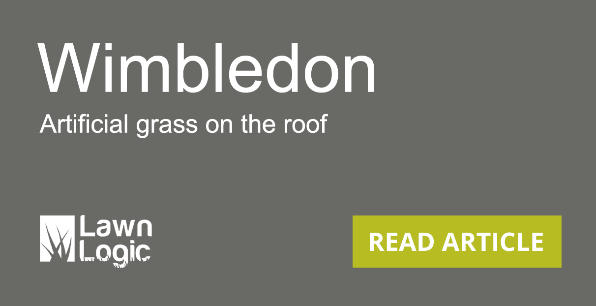 grass on the roof at Wimbledon article